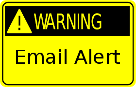 Email Alert - Warning Sign
