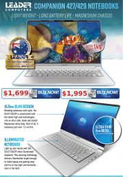 Leader Companion i5 & i7 Light Weight Long Battery Life Notebooks