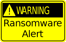 Ransomware Alert Warning Sign